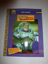 Toy Story Rare Buzz Big Color/Activity Book Paint & Marker,Golden Books 1996 110