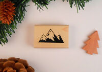 Mountain Peaks Rubber Stamp, Western Scenery, Landscape, Camping, Hiking #25