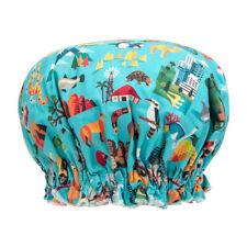NEW Ladies Girls Elasticised Shower Cap Australian Aussie Design Australian Made