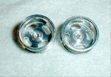 1 Pr Aluminum Wheels 4 Long Slots 1960's Vintage by K & B #204 NOS Slot Car 1/25