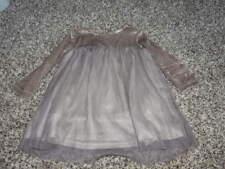 ZARA BABY GIRL 12-18 86 BROWN TULLE DRESS