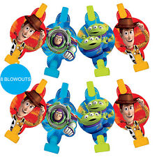 Toy Story Party Supplies 8pk Blowouts Blowers Birthday Loot Favours