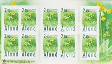 Aland Finland Flowers Cowslip Self Adhesive Sheet of 10 Stamps Mint MNH 1999