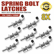 8X Spring Bolt Latch Catch Zinc Plate Truck Trailer Ute Float Railing Tail Gate