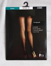 Autograph Small Natural Tan Back Seam Tights 15 Den Marks and Spencer