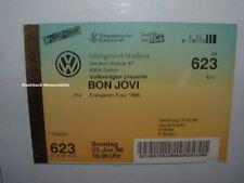 BON JOVI Unused MINT Concert Ticket ZURICH LETZIGRUND 1996 Europe RARE Gotthard