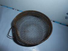 Htf Vtg/Antique Metal Wire Mesh Pet Cage/Birdcage Feeder/Seed/Grain Holder Bowl