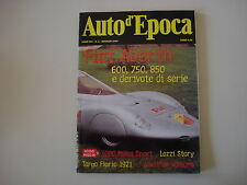 AUTO D'EPOCA 1/2002 FIAT ABARTH 600 750 850/JONATHAN WILLIAMS/LAZZI/TARGA FLORIO
