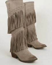 NOT RATED G-FUNK TAUPE FRINGED BOOTS 8.5 NIB