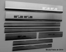 Skoda Fabia III ab 2014  Einstiegsleisten 8 Stück - Edelstahl  AF