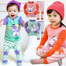 "Vaenait Baby Toddler Kids Girl Boy Clothes Pajama Set ""Orgel Elly Horse"" 12M-7T"