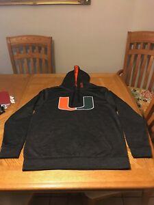 University of Miami Hurricanes Jacket Sweater  NCAA Hoodie UM The U Shirt Large