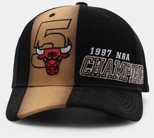 Chicago Bulls Mitchell & Ness Snapback Hat 1997 NBA Finals Champions Cap Black