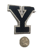 """Yale University Vintage Embroidered Iron On Patch 2.75"""" X 2.5"""""""