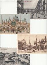 BLOCO 4 Cartoline VENEZIA - Fine '800 Gondole Piazza dei Leoncini e San Marco