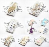"Luxury Bling Rhinestone Diamond Flip Wallet Leather iPhone 6 4.7""/ 6 Plus 5.5"""
