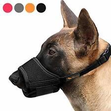 Heele Dog Muzzle Nylon Soft Muzzle Anti-Biting Barking, Black Barrier Size M