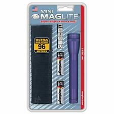 Maglite Mini Incandescent 2-Cell AA Flashlight with Holster, Purple