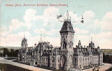 OTTAWA CANADA EASTERN BLOCK PARLIAMENT BUILDINGS POSTCARD 1910