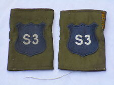 DISTINTIVO DI GRADO : Royal Militare Academy Sandhurst, rmas , blu su OLIVA, (S3