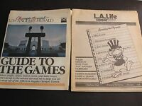 Los Angeles Herald Olympics & L.A. Life, Daily News-(2) Newspapers July 22,1984.