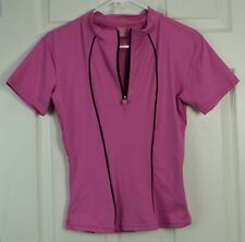 Trashy Cat Brand Women's L Passion Pink Short Sleeve Cycling Jersey