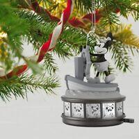 Hallmark Keepsake Steamboat Willie Disney 90th Mickey Mouse Music Light & Motion