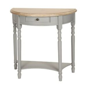 Semicircular Table,Console Table,Wall Side Table with Shelf And Drawer,Shabby