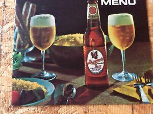 Vintage Iroquois Beer Menu