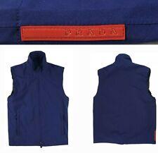 Mens PRADA SPORT SGV819 GORE TEX Navy Blue Gore-Tex Sleeveless Full Zip Vest 52