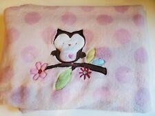 New listing Circo Target Pink Polka Dot Floral Plush Owl Fleece Baby Security Blanket