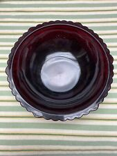 1876 Avon Beautiful Ruby Red Cape Cod Serving Bowl 8-3/4�