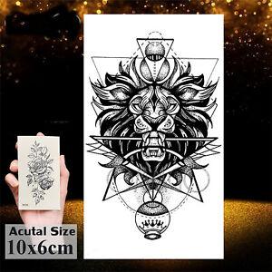 Temporäres Tattoo Löwe Muster Tribal Lion Loewe Einmal Einmal König