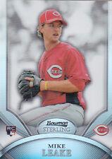 2010 Bowman Sterling Mike Leake Refractor Rookie Card #13