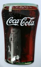 Premium Embossed Coca Cola Glass Metal Sign Coke Ande Rooney Soda Pop Diner