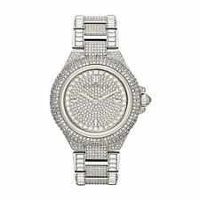 MICHAEL KORS MK5869 Camille Silver-Tone Crystal Pave Glitz Dial Ladies Watch