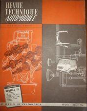 Revue technique RENAULT 10 R10 RTA 243 1966 + EVOLUTION FIAT 500 D 1961/1966