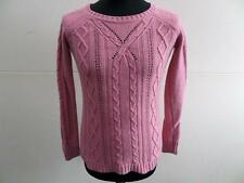 "WOMENS FAT FACE KNITTED JUMPER PINK SIZE 32"" CHEST VGC SKU No LB1011"