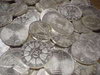 Anlegerposten , 50 x 50 Schilling Österreich , 1 KG Silber , Investorenpaket