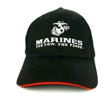 Marines The Few The Proud Mens One Sz Hat Black Adjustable Strapback Ball Cap