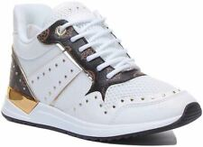 Guess Rejjy Active Lace Up Trainer EX DISPLAY In White Brown Size UK 6