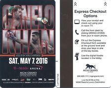 Saul Canelo Alvarez  Amir Khan MGM Grand Room Card Key May 7 2016