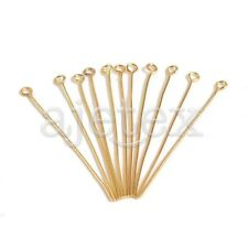 390pcs Gold Plated Eye Pins 18x0.7x0.7mm 21 Gauge Jewelry Making Findings