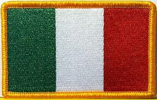 ITALY Flag Patch Military With VELCRO® Brand Fastener Gold Emblem