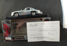 Bang 1018 Mercedes 300 SL Gullwing Hand Polished neuf en boite 1/43 edn limited