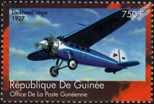 1927 LOCKHEED VEGA Transport / Mail Plane Aircraft Stamp (2002 Guinea)