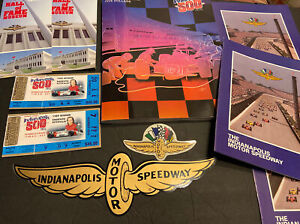 1900 INDIANAPOLIS 500  TICKETS~PROGRAM~INSERTS~STICKERS~BROCHURES RACING LOT NR