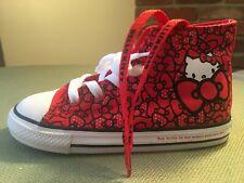 Converse X Hello Kitty CTAS HI Fiery Red Black White Infant Toddler Sneaker Shoe