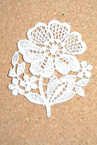 Flowers - Pansy - sew-on lace motif/applique/patch/craft/card making