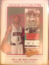 2001-02 Fleer Authentix #103 Willie Solomon Rookie Authentix RC #d 1232/1250